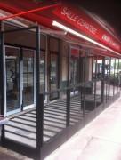 Abri terrasse avec plancher - En profile acier  -   Avec plancher