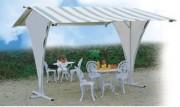 Abri terrasse avec toiture - Armature en acier galvanisé