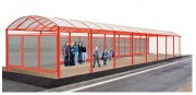 Abri urbain 5000 mm - Dimensions (L x h x Pr) : 5000 x 3010 x 4160 mm