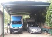 Abri véhicule polyvalent - Hauteur : de 2,80 m à 3,20 m