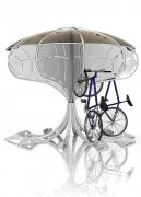 Abri vélo design - Dimensions (Ø x H) : 3 x 2,80 m