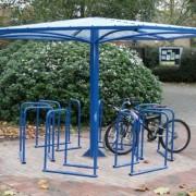 Abri vélo parasol - 24 Vélos/12 racks