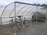 Abri vélo toit arrondi - Hauteur : 2m20
