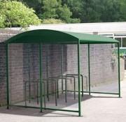 Abri vélo toit en fibre de verre - Structure : tubes rectangulaire aluminium - 16 vélos