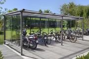 Abri vélos en aluminium - Tube d'aluminium ø 50 ou 76 mm