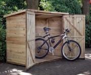 Abri vélos en bois - En pin imprégné
