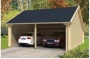 Abri voiture double bois - Dimensions 300x500 cm