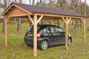 Abri voiture en bois - Hauteur : 2 ou 2.65 m