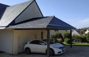 Abri voiture simple en bois - Dimensions 300x500cm