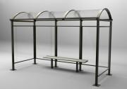 Abribus métallique - Longueur : 2500 - 3750 - 5000 et 6250 mm