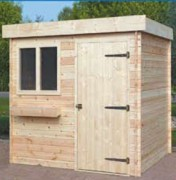 Abris de jardin moderne bois 5.46 m2