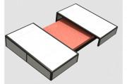 Abris de sautoirs ouverture centrale - Matière : Aluminium - Roues fixes ou roues pivotantes