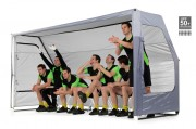 Abris de touche football pliable 8 places - Dimensions : 366 x 183 cm