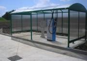 Abris pour station essence et lavage - Hauteur : 2 m - Profondeur (m) : 1,50 ou 2 ou 2,5 ou 3 m