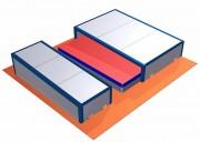 Abris sautoir perche/hauteur - Matière : Aluminium - Roues fixes ou roues pivotantes