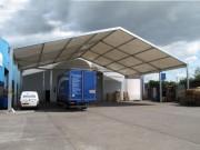 Abris toiture industrielle - Largeurs disponibles (m) : 5 à 30