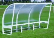 Abris touche en aluminium blanc - Hauteur : 1.60 m / 2 m - Nombres de personnes : De 2 à12