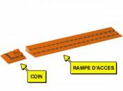 Accessoire caillebotis industriel en Polyéthylène - Accessoire pour caillebotis industriel 600 x 112