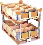Accessoires rehausses pliantes bois - Porte-étiquettes format A4 et A5 - Coins de gerbage