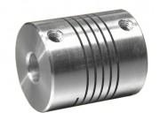 Accouplement flexible à hélicoïdes - Couple maximum transmissible : 2 Nm
