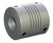Accouplement flexible à hélicoïdes en aluminium diamètres d'arbre 10 à 14 mm - Pour des diamètres d'arbre de 10 à 14 mm