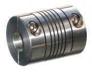 Accouplement flexible à hélicoïdes en inox - Couple maximum transmissible : 2 Nm