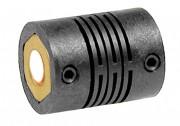 Accouplement flexible en polyamide renforcé - Couple maximum transmissible de 0,2 à 0,8 Nm