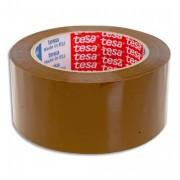Adhésif d'emballage polypro sans solvant silencieux 100 x 50 cm havane - Tesa