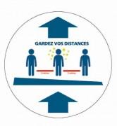 Adhésif pour distance de sécurité - Adhésif - Différentes mentions disponibles - Personnalisable