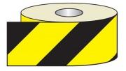 Adhésif réfléchissant jaune et noir - Dimension : 100mm x 25m