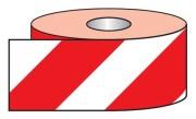 Adhésif réfléchissant rouge et blanc - Dimension : 100mm x 25m