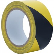 Adhésif Zébra jaune/Noir - Taille : 33 mm / 48 mètres