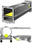 Aéroglissière - Pression d'air : 0.05 bar (Poudres) - 0.16 bar (Granulats)