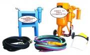 Aérogommeuse basse pression - Réservoir 17 litres - Tuyauterie 10 mètres