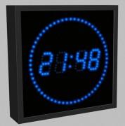 Affichage horloge à led - Hauteur des caractères : 120 à 1000 mm