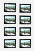 Affichage lumineux - Cadres noirs - 2 colonnes de 4 porte-affiches Led A4