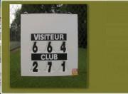 Affichage score Tennis manuel 78,5 x 60 cm - Modèle compact : 78,5 x 60cm
