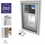 Affichage vitrine extérieur à cadre aluminium - Dimensions : 1000 Largeur x 840 mm Hauteur