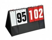 Afficheur de score manuel - 1 côté rouge - 1 côté blanc