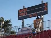 Afficheur lumineux score sportif - Hauteur des caractères : de 60 à 560 mm - Nombre de lignes : multiples