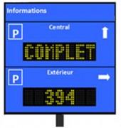 Afficheur pour parking - 3 hauteurs de caractères en standard (80-120 et 200mm)