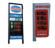 Afficheur prix carburant à leds - 2 types de LEDs : Led radial ou Led SMD