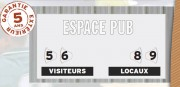 Afficheur score manuel multisports - Dimensions (L x l) : 120 x 60 cm