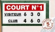 Afficheur score tennis manuel - Grand Modèle (L x l) : 120 x 60 cm