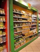 Agencement de magasin bio - Matériaux naturels (bois…)