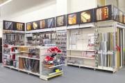 Agencement des surface de vente - Hauteur : de 1200 à 4000 mm - Profondeur : de 200 à 770 mm