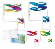 Agenda publicitaire spirale - Format Mini (mm) : 90 x 165 - Format semainier (mm) : 210 x 270