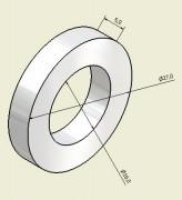 Aimant anneau magnétisé