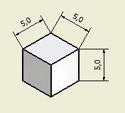 Aimant cubique - Forme : cube