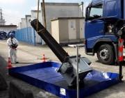Aire de décontamination pour engins de chantier 1875 L - Bac en polyester enduit de PVC (900 g/m2)